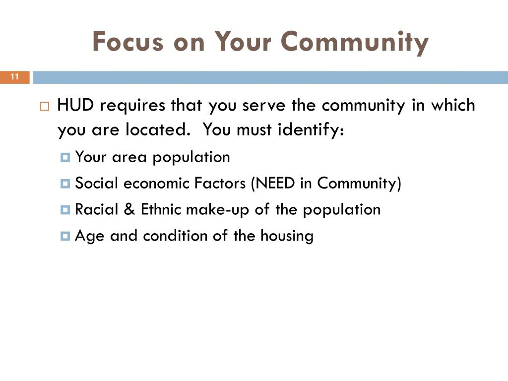 Focus on Your Community