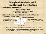 marginal analysis with the normal distribution53