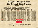 marginal analysis with the normal distribution55