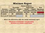 minimax regret41