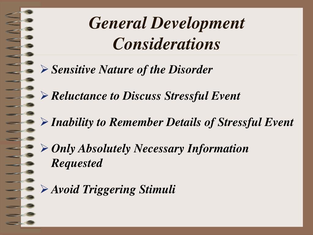 General Development Considerations