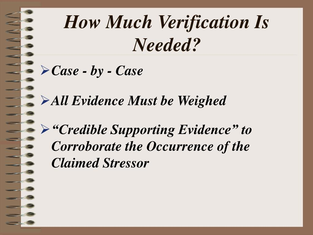 How Much Verification Is Needed?