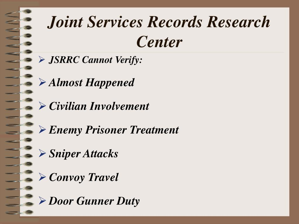 Joint Services Records Research Center