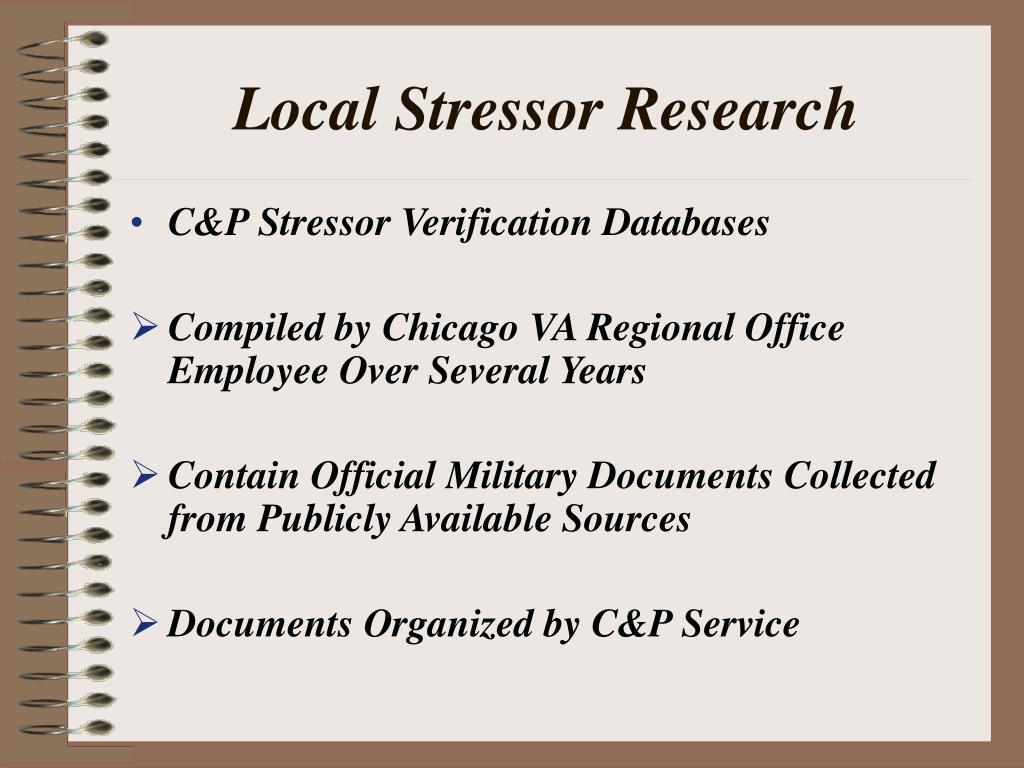 Local Stressor Research