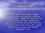 the true nature of fasting19