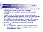 annual contributions contract acc