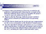 annual contributions contract acc13