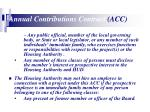 annual contributions contract acc15