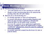 open meetings act9