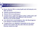 role of a commissioner18