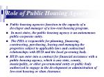role of public housing agency