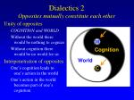 dialectics 2 opposites mutually constitute each other