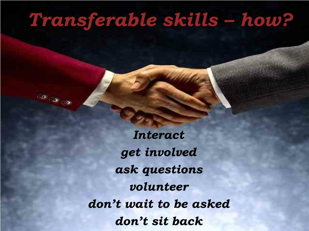 Transferable skills – how?