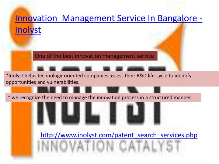 Innovation  Management Service In Bangalore -  Inolyst