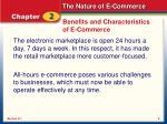 benefits and characteristics of e commerce9
