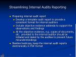 streamlining internal audits reporting