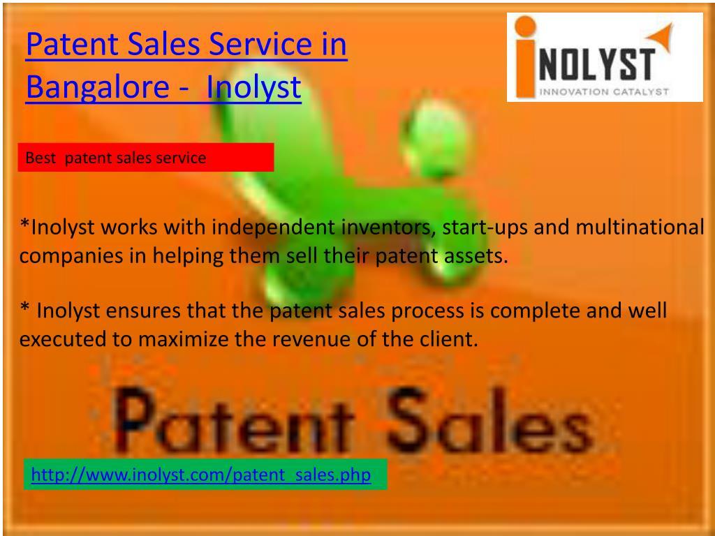 Patent Sales Service in Bangalore -  Inolyst