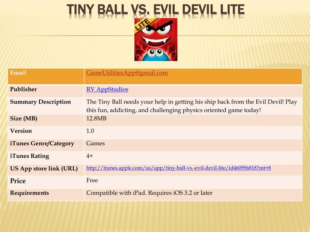tiny ball vs evil devil lite l.