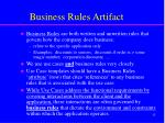 business rules artifact