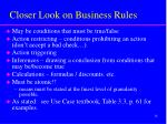 closer look on business rules