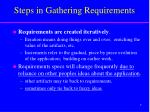 steps in gathering requirements