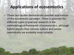 applications of ecosemiotics