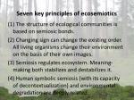 seven key principles of ecosemiotics