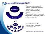 conceptual framework for c 2