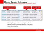 manage contract deliverables track contractual responsibilities and key administrative tasks