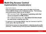 multi org access control implementation considerations