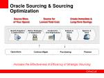 oracle sourcing sourcing optimization