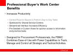 professional buyer s work center benefits
