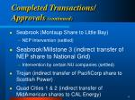completed transactions approvals continued9