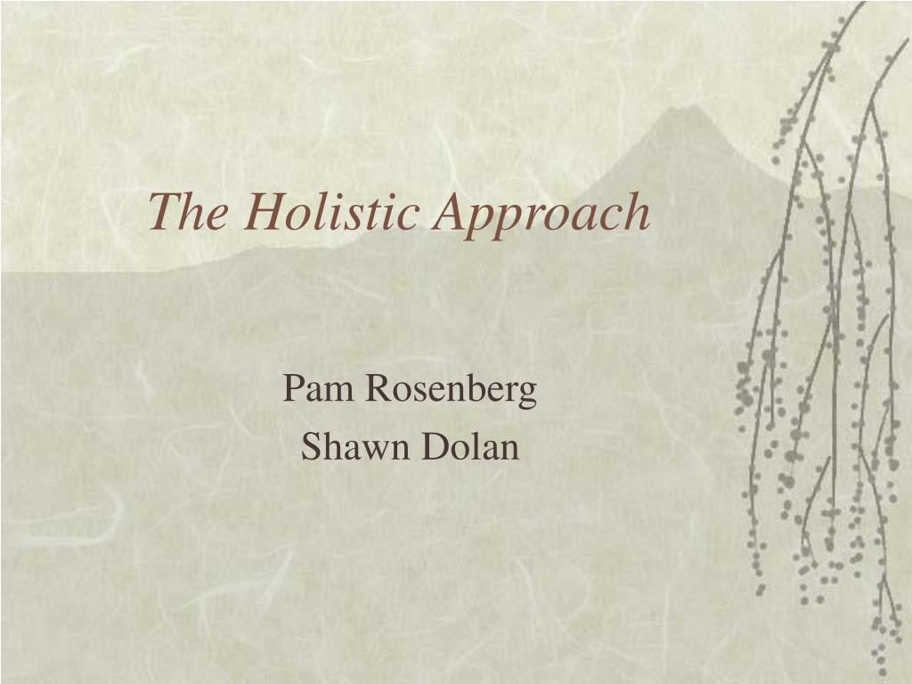 the holistic approach l.
