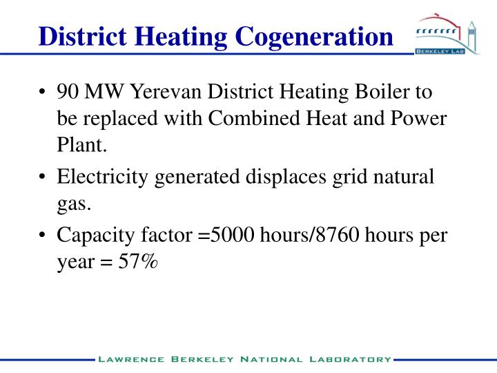 District Heating Cogeneration