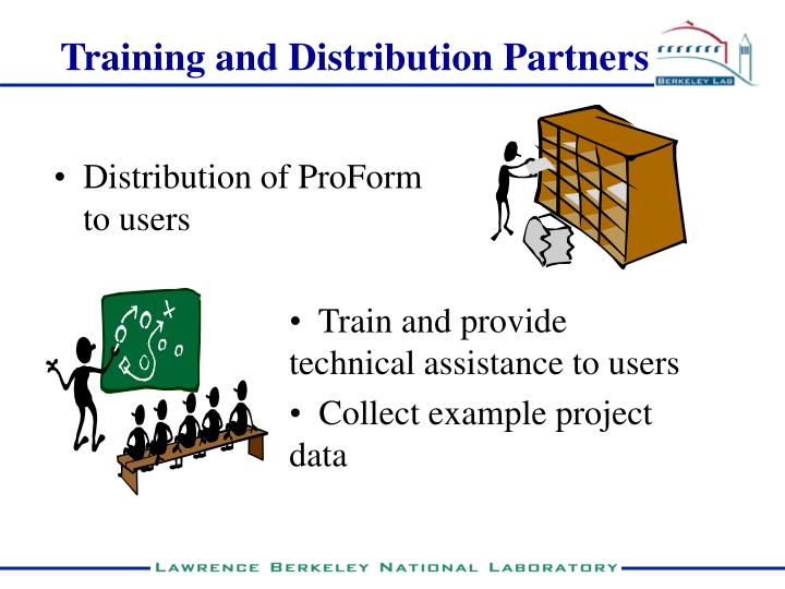 Training and Distribution Partners