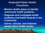 essential public health functions