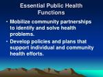 essential public health functions12