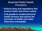 essential public health functions13