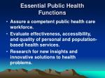 essential public health functions14
