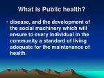 what is public health4