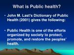what is public health5