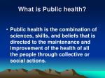 what is public health6