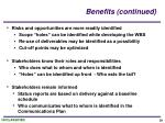 benefits continued29