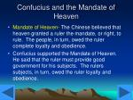 confucius and the mandate of heaven