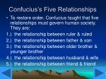 confucius s five relationships