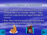 first impression of buddhism