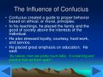 the influence of confucius
