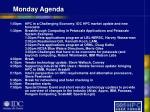 monday agenda