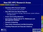 new idc hpc research areas